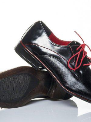 panska spolecenska obuv peccini go 093-d black red 40-45