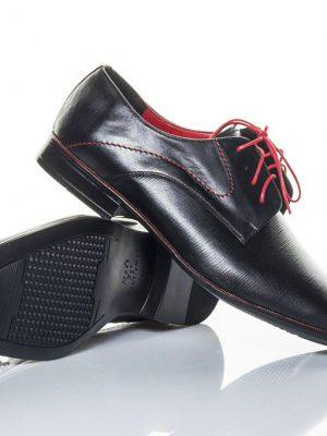 panska spolecenska obuv peccini go 097 black red 38-49 3