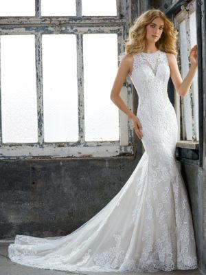 svatební šaty Mori Lee Krista vel38 c56-01 8205