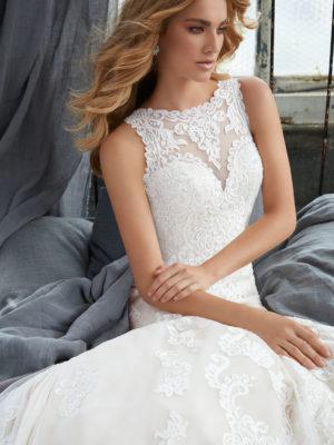svatební šaty Mori Lee Krista vel38 c56-03 8205