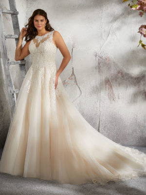 svatební šaty Morilee Leach vel.48-52 č.96 3248